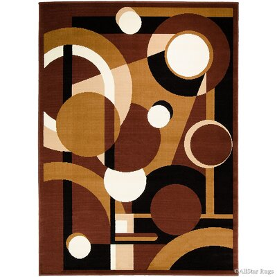 Dark Brown Area Rug Rug Size: 52 x 71