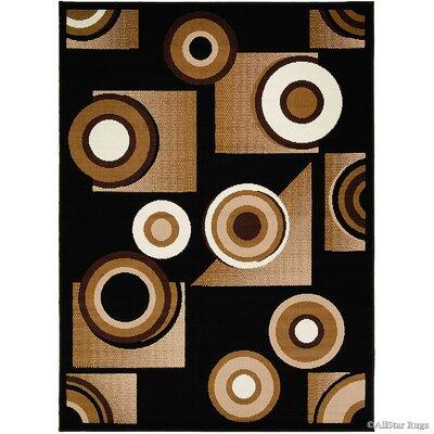 Black/Brown Area Rug Rug Size: 39 x 51