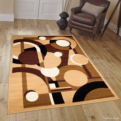 Brown Area Rug Rug Size: Rectangle 8 x 10