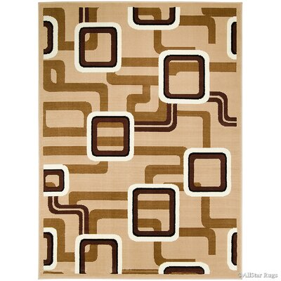 Hand-Woven Brown Area Rug Rug Size: 52 x 71