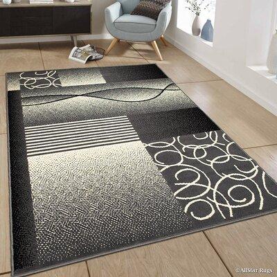Hand-Woven Gray Area Rug Rug Size: 52 x 71
