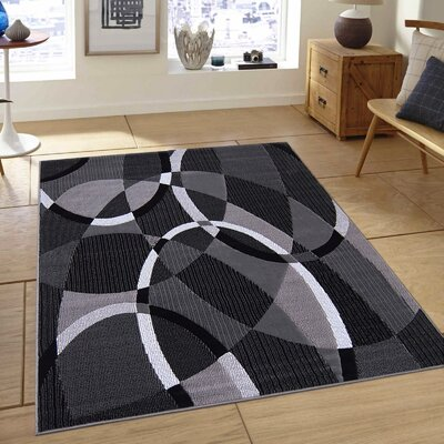 Hand-Woven Gray Area Rug Rug Size: Rectangle 5' x 7'