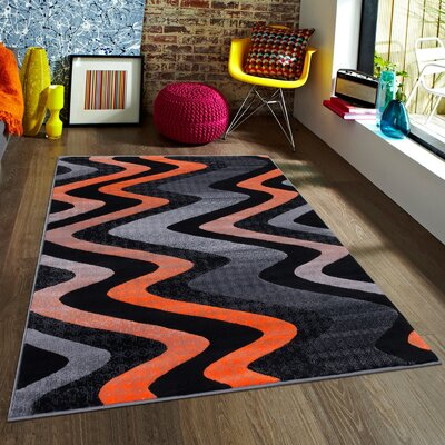 Orange Area Rug Rug Size: 5 x 611