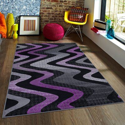 Purple Area Rug Rug Size: 5 x 611
