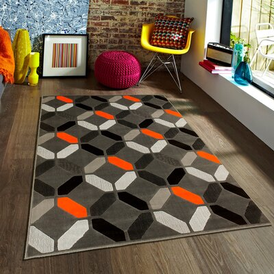 Orange Area Rug Rug Size: 710 x 10