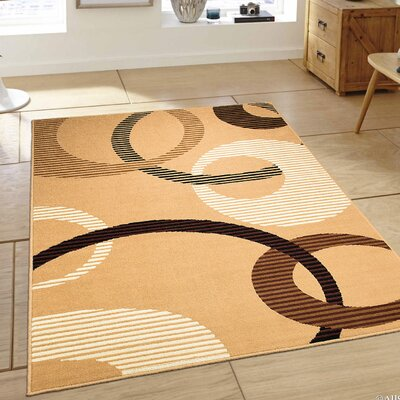 Brown Area Rug Rug Size: 52 x 71