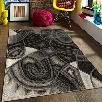Gray Area Rug Rug Size: 710 x 10