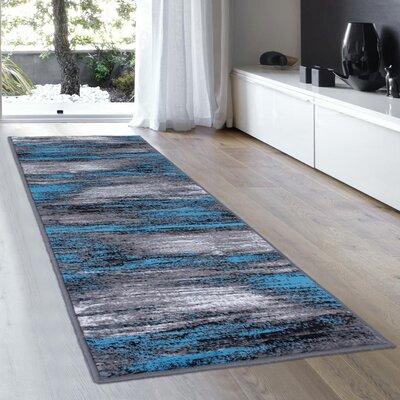 Blue Area Rug Rug Size: 5 x 611