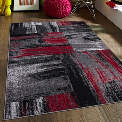 Red Area Rug Rug Size: 710 x 10