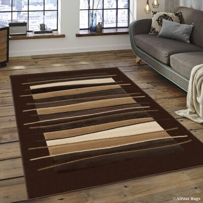 Brown/Beige Area Rug Rug Size: 710 x 102