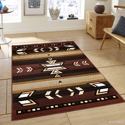 Hand-Woven Dark Brown Area Rug Rug Size: 39 x 51