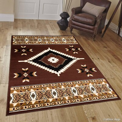 Hand-Woven Dark Brown Area Rug Rug Size: 52 x 71