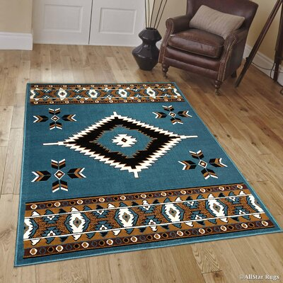 Hand-Woven Light Blue Area Rug Rug Size: 39 x 51