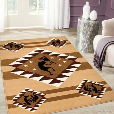 Brown Area Rug Rug Size: 77 x 106