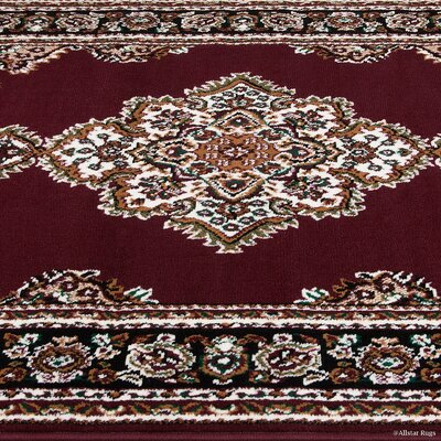 Hand-Woven Red Area Rug