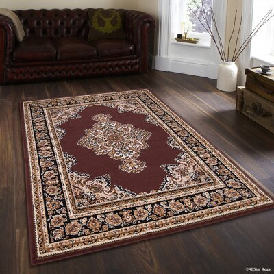 Hand-Woven Dark Brown Area Rug