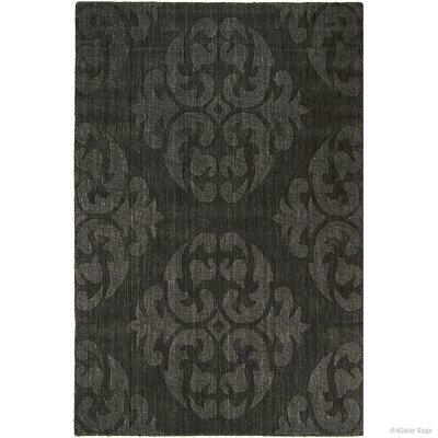 Hand-Woven Gray Area Rug Rug Size: 411 x 7