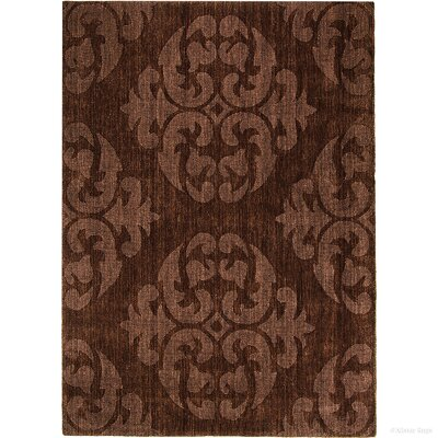 Hand-Woven Espresso Area Rug Rug Size: 411 x 7