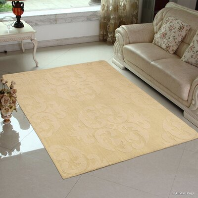 Hand-Woven Ivory Area Rug Rug Size: 411 x 7