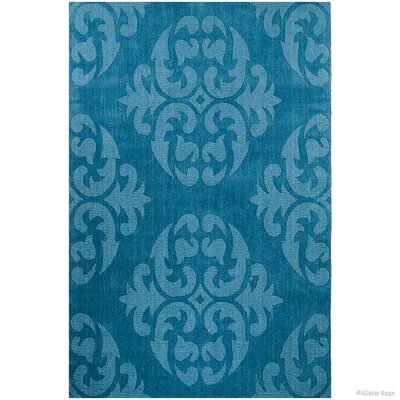 Hand-Woven Blue Area Rug Rug Size: 411 x 7