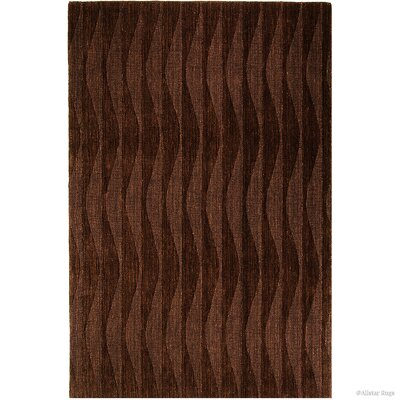 Hand-Woven Brown Area Rug Rug Size: 411 x 7