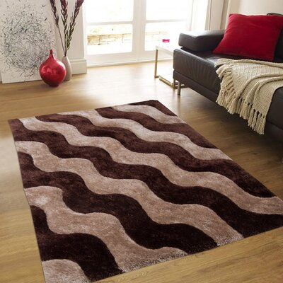 Hand-Tufted Coco Area Rug Rug Size: 76 x 105