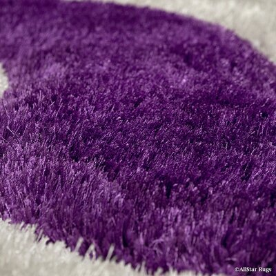 Tufted Lilac/Grey Area Rug Rug Size: 76 x 105