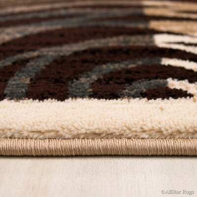 Champagne/Brown Area Rug Rug Size: Rectangle 52 x 72