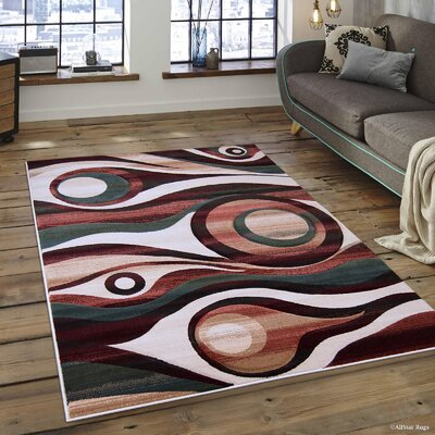 Hand-Tufted Area Rug Rug Size: Rectangle 79 x 105