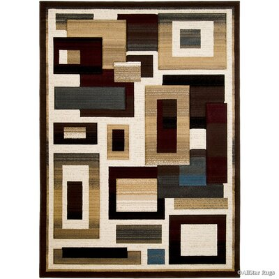 Brown Area Rug Rug Size: 79 x 105