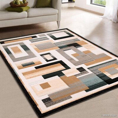 Brown Area Rug Rug Size: 52 x 72