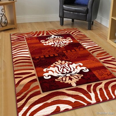 Rust Area Rug Rug Size: Rectangle 79 x 105