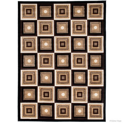 Black/Brown Area Rug Rug Size: Rectangle 39 x 51