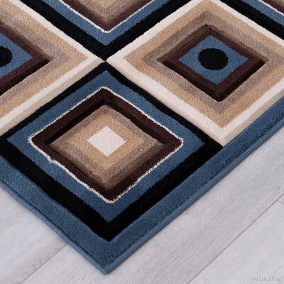 Blue Area Rug Rug Size: Rectangle 52 x 72