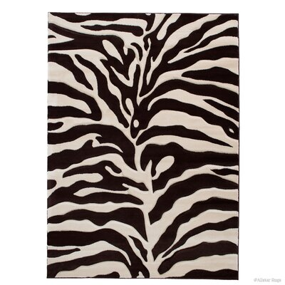 Chocolate/Beige Area Rug Rug Size: Rectangle 39 x 51