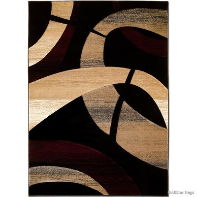 Black/Brown Area Rug Rug Size: Rectangle 52 x 72