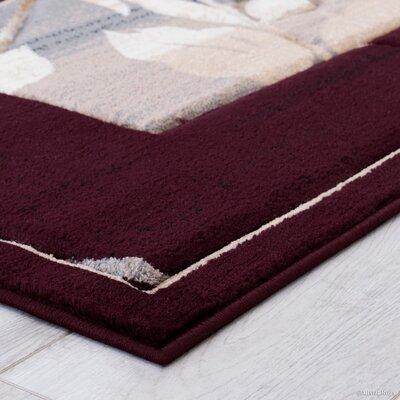 Burgundy Area Rug Rug Size: 52 x 72