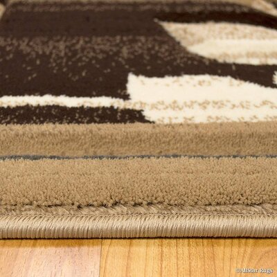 Brown Area Rug Rug Size: Rectangle 52 x 72