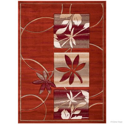 Rust Area Rug Rug Size: Rectangle 39 x 51