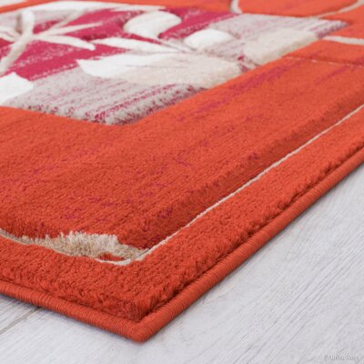 Rust Area Rug Rug Size: Rectangle 52 x 72