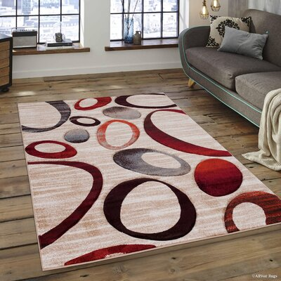 Champagne Area Rug Rug Size: 52 x 72