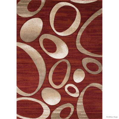 Red Area Rug Rug Size: Rectangle 39 x 51