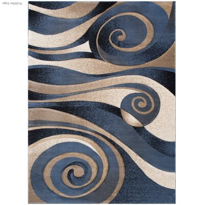 Blue Area Rug Rug Size: Rectangle 39 x 51