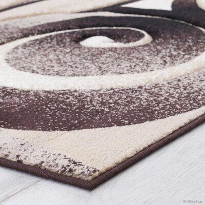 Chocolate Area Rug Rug Size: 52 x 72
