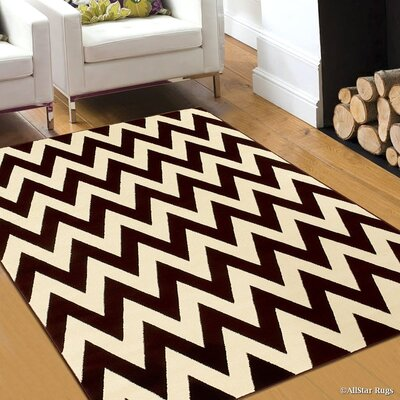 Brown/Beige Area Rug Rug Size: 79 x 105