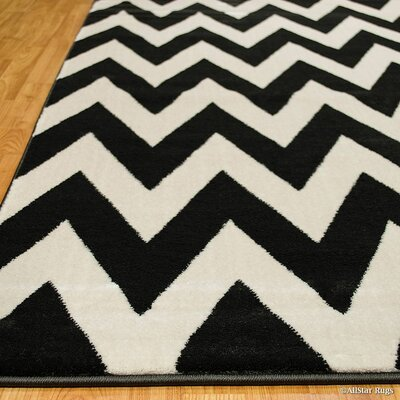 Beige/Black Area Rug Rug Size: Rectangle 52 x 72