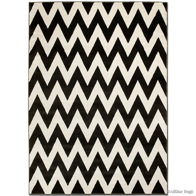 Beige/Black Area Rug Rug Size: Rectangle 79 x 105