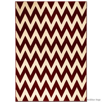 Red/Beige Area Rug Rug Size: Rectangle 39 x 51