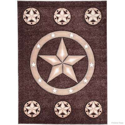 Hand-Tufted Brown Area Rug Rug Size: Rectangle 79 x 105
