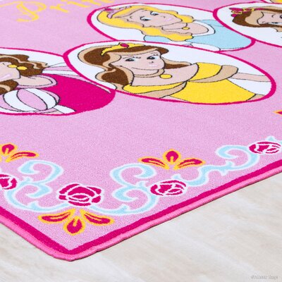 Hand-Tufted Pink Area Rug Rug Size: 73 x 102